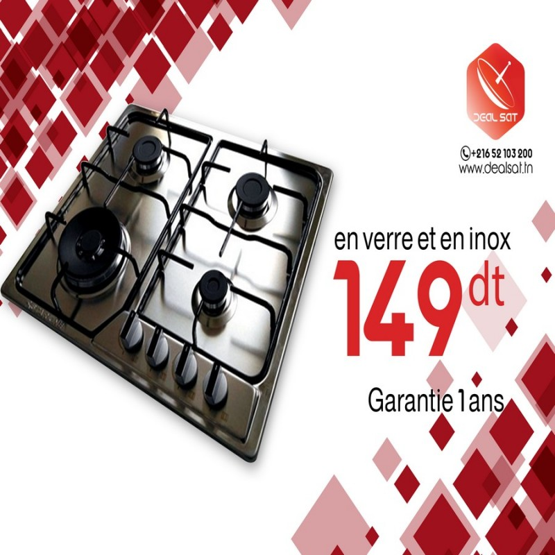 plaque de cuisson 4 feux star one en inox dealsat. Black Bedroom Furniture Sets. Home Design Ideas
